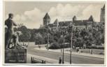 AK Foto Posen Schloss mit Statue Poznań Polen Feldpost 1940