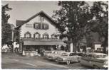 AK Foto Oberammergau Gasthof Turmwirt viele Autos 1961