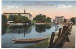 AK Dessau Herzogl. Schloß und Mühle von der Mulde aus gesehen 1915