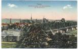 AK Dessau Ortsansicht Kreiskrankenhaus und Diakonissenhaus mit Barackenlager Feldpost 1917