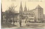 AK Regensburg Römerturm und bayr. Herzogsburg mit Menschen 1915