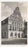 AK Foto Stargard Pommern Rathaus mit Fahrrad Stargard Szczeciński Polen 1941