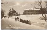 AK Foto Oberhof in Thüringen Herzogl. Jagdschloss im Winter großer Schlitten 1934