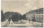 AK Reutlingen Bahnhof mit Listdenkmal und Hotel Kronprinz 1910