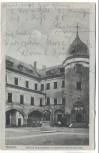 AK Cüstrin Küstrin Schloss Kasernenhof mit Denkmal des Kurfürsten Kostrzyn nad Odrą Neumark Polen Feldpost 1918
