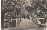AK Dorpat Tartu Engelsbrücke mit Kind Feldpost Stempel Ortskommandatur 29 Estland 1918