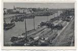 AK Foto Duisburg Ruhrort Einfahrt in den Hafen viele Schiffe 1941
