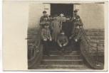 VERKAUFT !!!   AK Foto Bitsch Gruppenbild Soldaten Mottenverein I.R. 166 Bitche Lothringen Frankreich Feldpost 1916