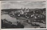 AK Passau Ansicht mit Dampfer und Brücke 1940