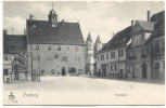 AK Freyburg Unstrut Marktseite Markt mit Rathaus 1905