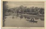 AK Jena Blick auf den Hausberg Boote mit Menschen 1915