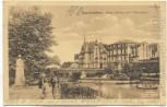 AK Saarbrücken Neue Brücke mit Viktoriastrasse Soldatenkarte 1912