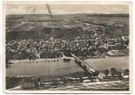 AK Foto Obernburg am Main vom Flugzeug aus Luftbild mit Bahnhof 1937