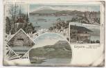 AK Litho Luzern Tellkapelle Pilatus Rigi Schweiz 1900