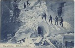 AK Eigergletscher Gletscherbesteigung Bergsteiger Kanton Bern Schweiz 1912