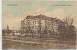 AK Békéscsaba All. felsöbb polgári iskola Ungarn Feldpost 1921