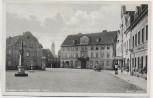 VERKAUFT !!!   AK Foto Kamenz in Sachsen Böhnisch Platz mit Hotel Lehmann und Postmeilensäule Feldpost 1939