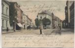 AK Bochum Bahnhofstrasse und Friedrichstrasse mit Mann und Kutschen 1905