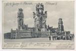 AK Hohensyburg Kaiser Wilhelm-Denkmal mit Menschen 1905