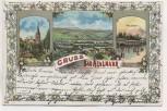AK Litho Gruss aus Bad Neuenahr Kirche Wandelbahn Ortsansicht 1905