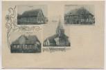 AK Gruss aus Wettmershagen Schule Pfarrhaus Rittergut b. Calberlah 1900 RAR