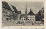 AK Foto Ulm an der Donau Marktplatz mit Brunnen Feldpost 1940