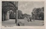AK Foto Posen Stadttheater mit Frau Poznań Polen 1942