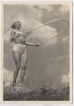 AK Foto Frau Schönheit der Gymnastik Seilspringen 1 Verlag Schwerdtfeger 1940