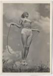 AK Foto Frau Schönheit der Gymnastik Seilspringen 2 Verlag Schwerdtfeger 1940