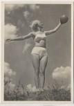 AK Foto Frau Schönheit der Gymnastik Ballgymnastik Verlag Schwerdtfeger 1940