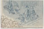 AK Hamburg Erinnerung an den Droschkenkutscher Streik Pferde August 1902