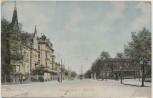 AK Chemnitz Albertstrasse und Bahnhof 1906