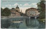 AK Potsdam Blick von der Havel auf Stadtschloss Nikolaikirche Palasthotel mit Boot Feldpost 1915