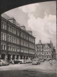 AK Düsseldorf Neues und Altes Rathaus mit Autos 1956