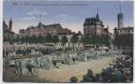 AK Köln am Rhein Neumarkt mit eroberten französischen Kanonen Feldpost 1915