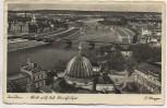 AK Foto Dresden Blick auf das Königsufer F.Hunger 1935