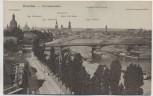 AK Dresden Terrassenufer mit Brücken und Dampfer 1900