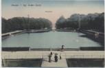 AK Dresden Kgl. Großer Garten Palaisteich mit Menschen 1910
