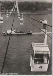 AK Foto Köln am Rhein Rheinseilbahn mit Schiff Technische Daten 1960