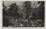 AK Foto Neuner-Alm bei Obergrainau gegen Waxenstein und Zugspitz-Massiv Grainau 1935