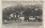 VERKAUFT !!!   AK Garmisch-Partenkirchen Leonhardihof Höllentalstraße 1920 RAR