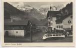 AK Foto Der Tauern-Gasthof an der Glockner-Hochalpenstraße Bus Sachsen-Express-Zittau Ferleiten Salzburg Österreich 1935
