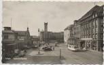 VERKAUFT !!!   AK Foto Erfurt Bahnhofsplatz mit Autos 1957