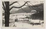 AK Foto Winkelsdorf Erholungsheim im Winter Kouty nad Desnou b. Loučná nad Desnou Mährisch Schönberg Sudeten Tschechien 1935