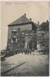 AK Elbogen Eingang zur Burg mit Menschen Loket Tschechien 1910