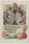AK Zur Erinnerung an die silberne Hochzeitsfeier des Würtembergischen Königspaares Offizielle Postkarte des Blumentages private Ganzsache 1911