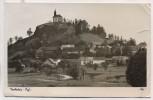 AK Foto Parkstein Oberpfalz Ortsansicht mit Basaltkegel und Kirche 1938