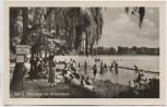 AK Foto Königs Wusterhausen See u. Strandbad am Krimnicksee viele Menschen 1954