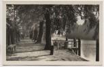 AK Foto Königs Wusterhausen Uferpromenade Neue Mühle 1955