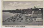 AK Ostseebad Eckernförde Strand mit Kurhaus Seelust und Fahnen 1943